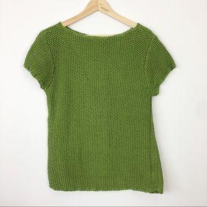 Tory Burch short sleeve sweater chunky knit L
